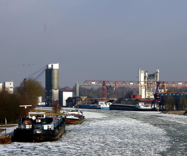 Kanalhafen in Ladbergen